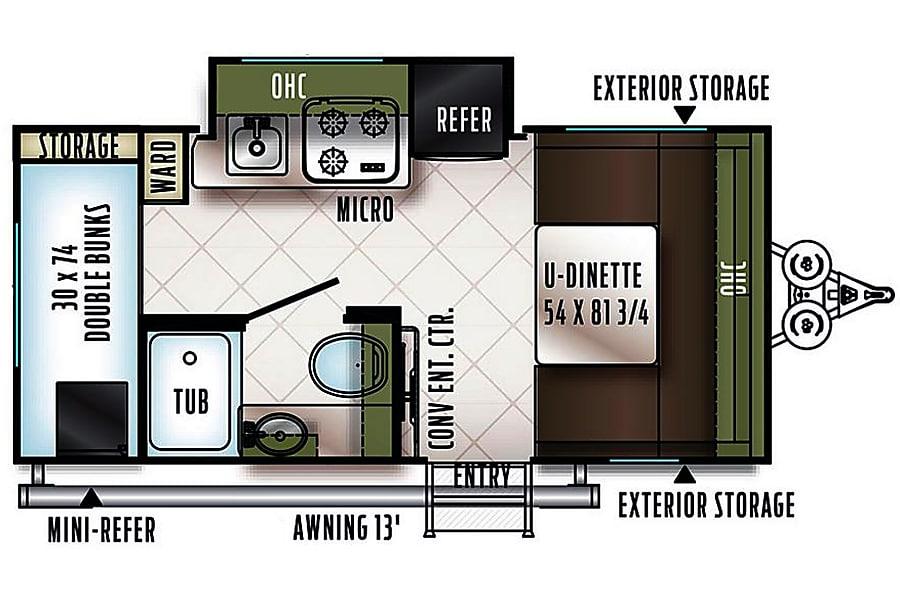 floorplan E-Pro E16BH (TR1) Wayland, MI