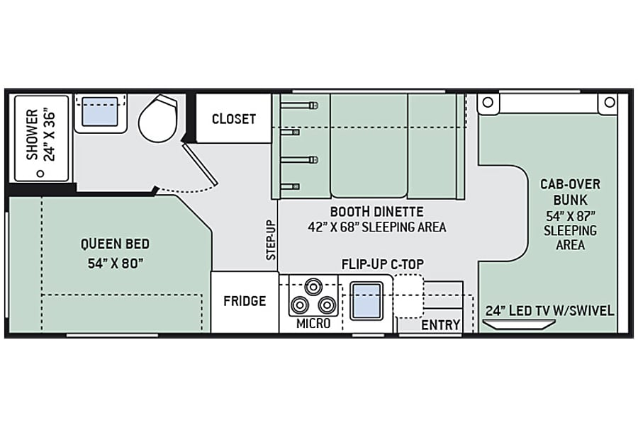floorplan 2017 Four Winds 22E RV Wayland, MI