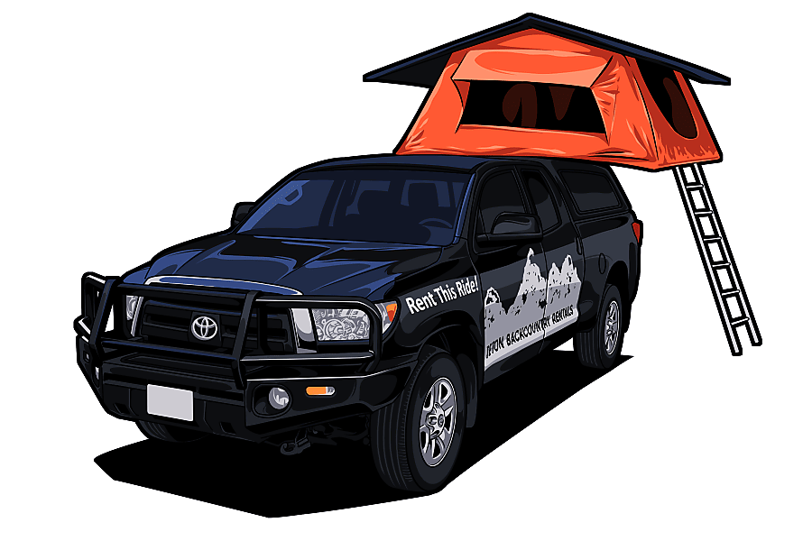 floorplan 4x4 Toyota Tundra with Tepui Roof top Tent Jackson, WY