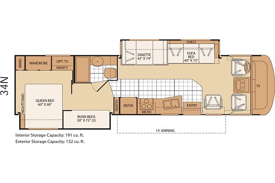 floorplan 2008 Fleetwood Terry Lx Kent, WA