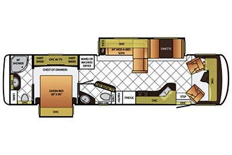 floorplan 2015 Newmar Canyon Star Lawrenceville, GA