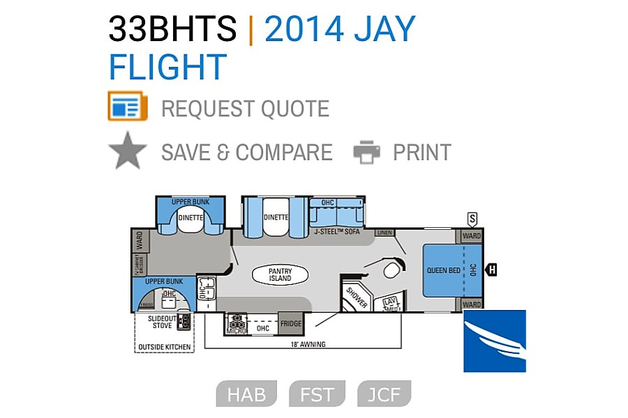 floorplan 2014 Jayco Jay Flight Lutes Mountain, NB