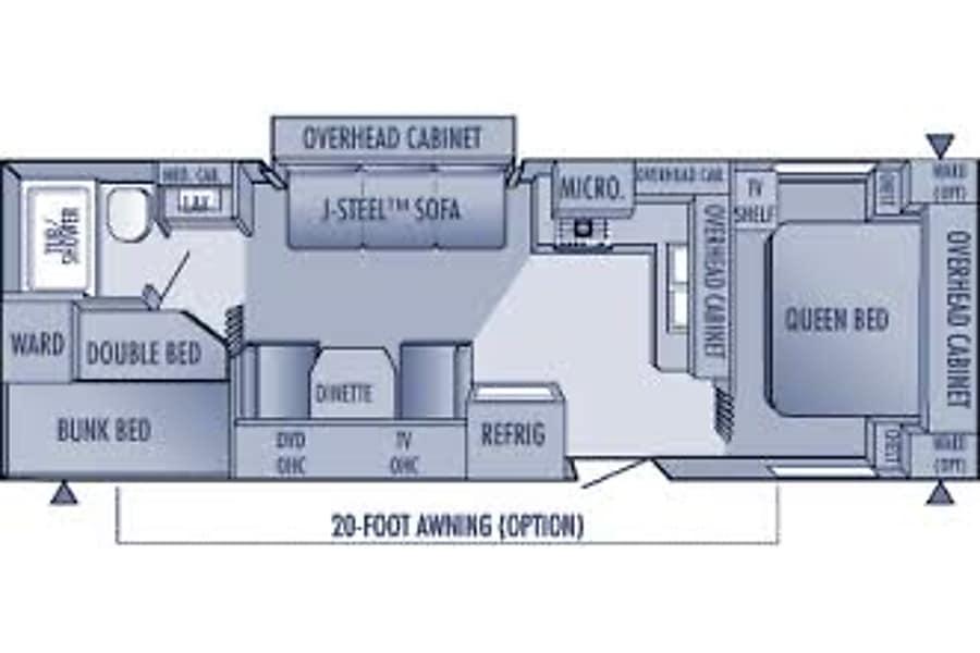 floorplan 2009 Jayco jayflight 29 feet, sleeps 6 Okotoks, AB