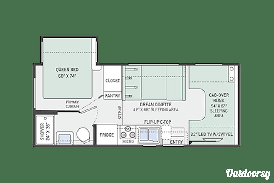 floorplan 2016 Thor Motor Coach Freedom Elite Kansas City, KS