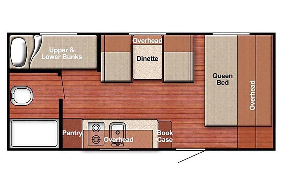 floorplan 2017 GulfStream AmeriLite 198BH 21' - T2 West Fargo, ND