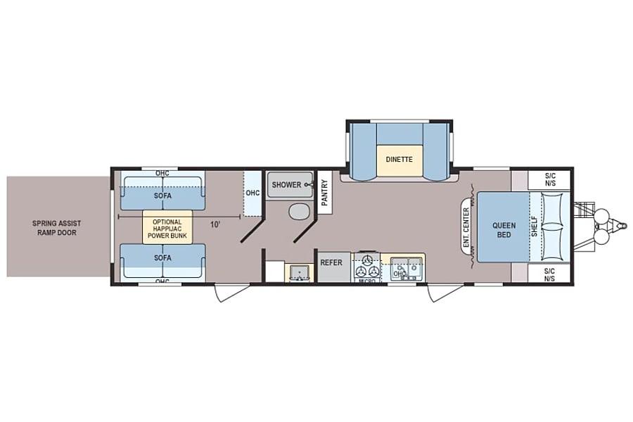 floorplan 2016 Coleman 300TQ El Paso, TX