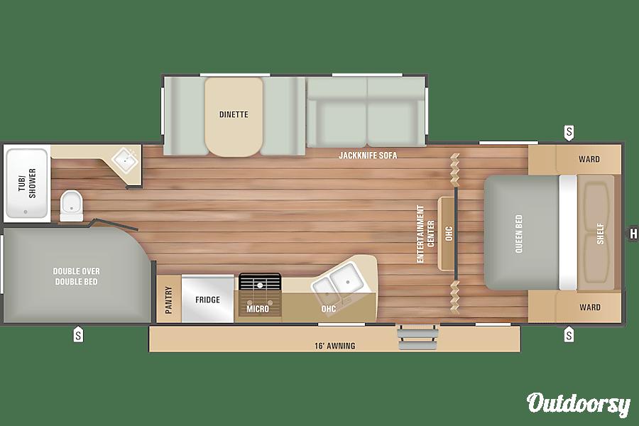floorplan 2018 Starcraft Autumn Ridge 26BHS Poland, ME