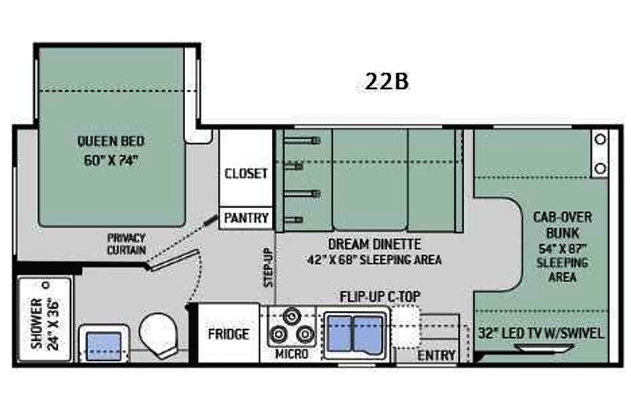 floorplan 2017 Thor Motor Coach Four Winds New Castle, IN