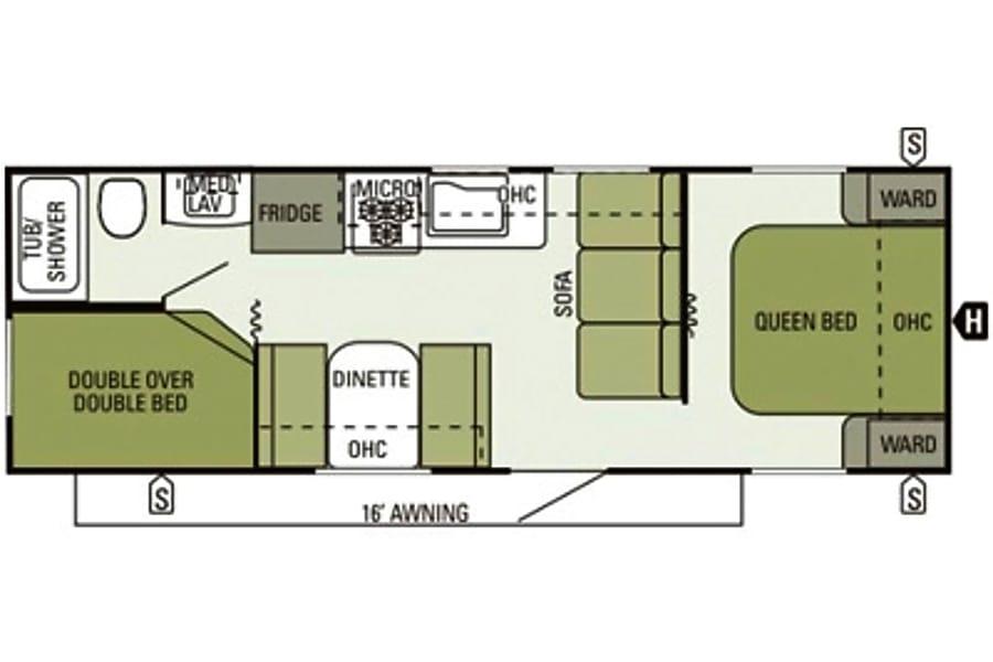 floorplan 2014 Starcraft Autumn Ridge Sunderland, ON