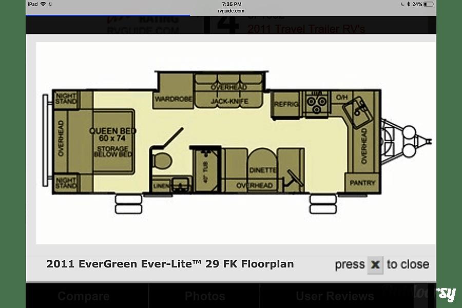 floorplan 2011 Evergreen Everlite Brownsville, ON
