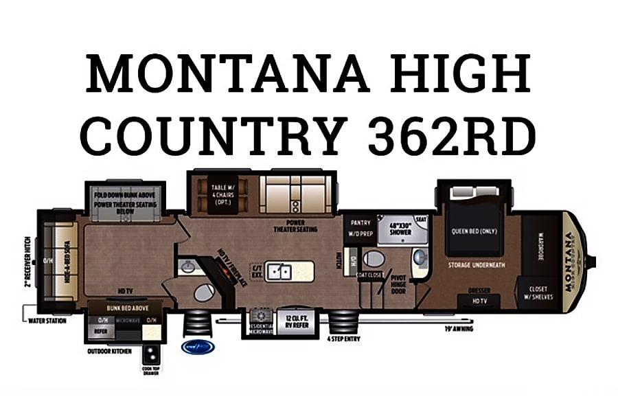 ... SC floorplan 2016 Keystone Montana High Country 362RD Myrtle Beach, ...