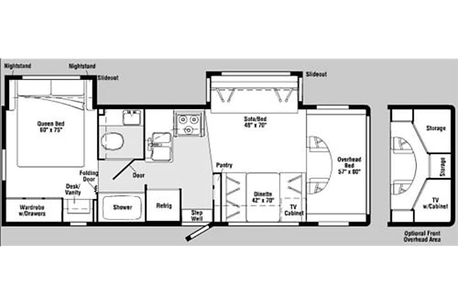 floorplan 2006 Winnebago Outlook Sparks, NV