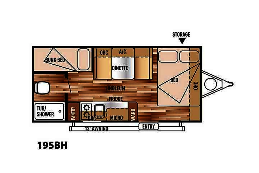 floorplan 2018 Forest River Salem Cruise Lite San Luis Obispo, CA