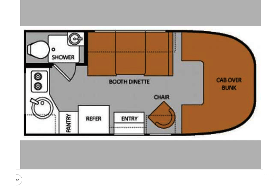 floorplan 2012 Thor Motor Coach Four Winds Majestic Rialto, CA