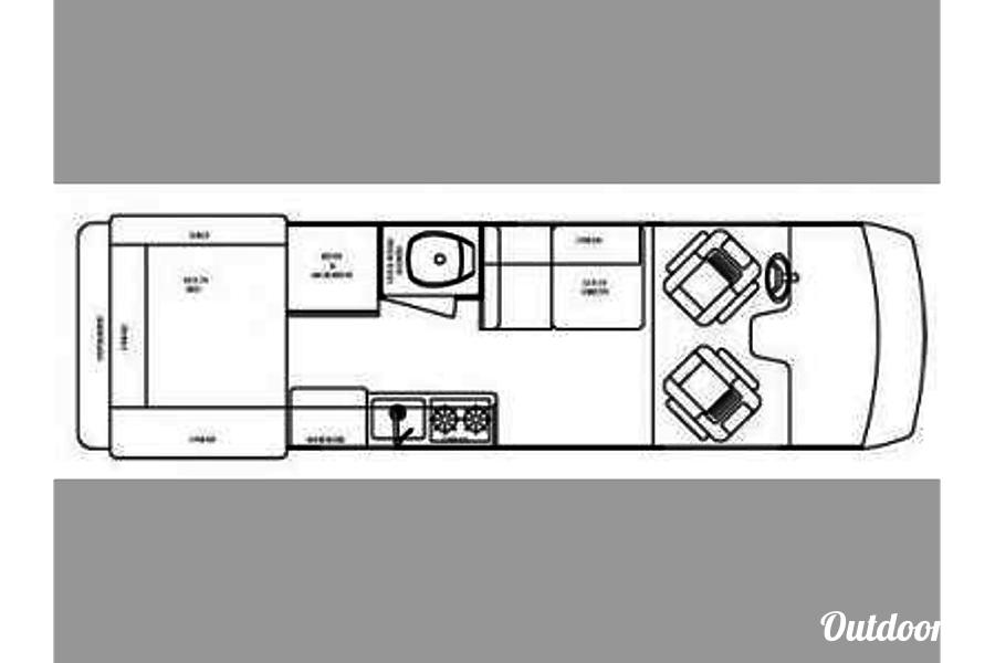 """floorplan 2006 Gulf Stream Vista Cruiser """"Vanna White"""" Cleveland, OH"""