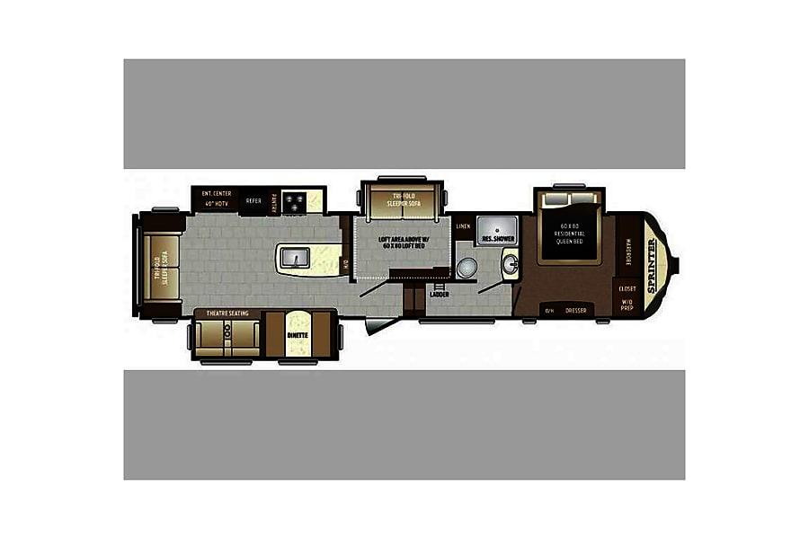 floorplan 2017 Keystone Sprinter El Paso, IL
