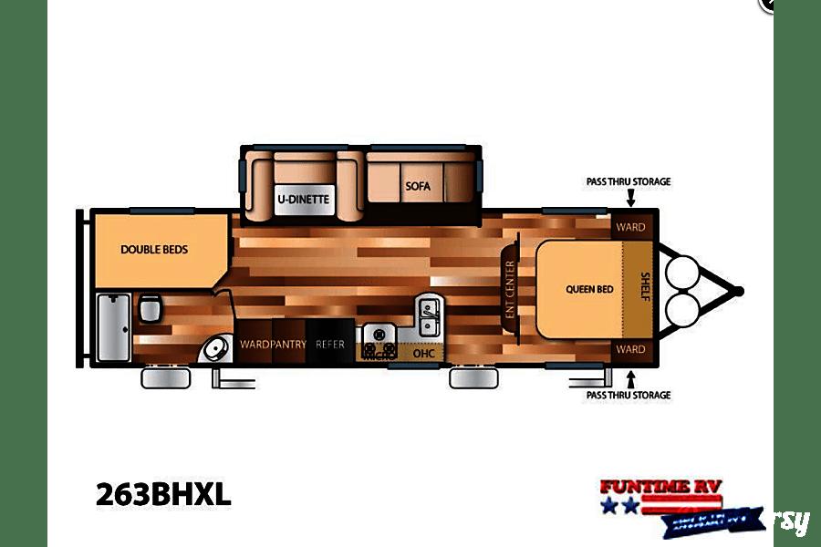 floorplan 2018 26' Bunkhouse - No Pet Fee Req'd Vancouver, WA