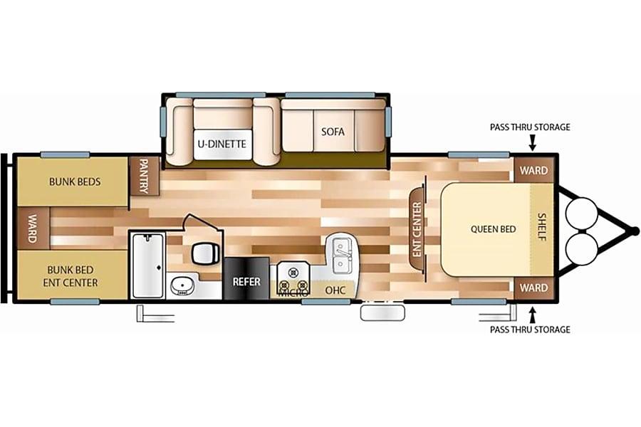 floorplan 2017 Forest River Wildwood New Bremen, OH