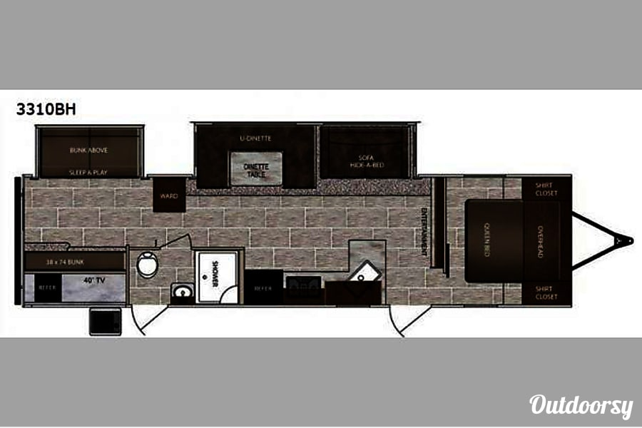 floorplan 2018 Lacrosse 3310BH Red Oak, TX