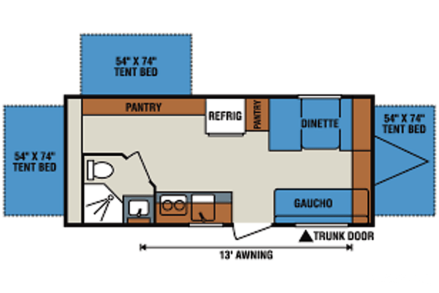 floorplan 2017 K-Z Sportsmen 180RBT Greensburg, PA