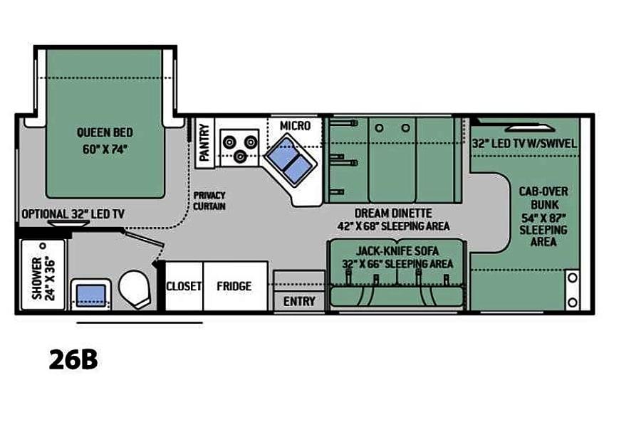 floorplan 2017 Thor Motor Coach Chateau Chula Vista, CA