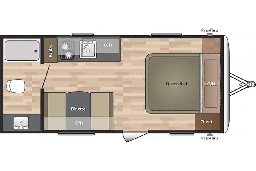 floorplan 2015 Keystone Summerland Mini Clear Lake, MN