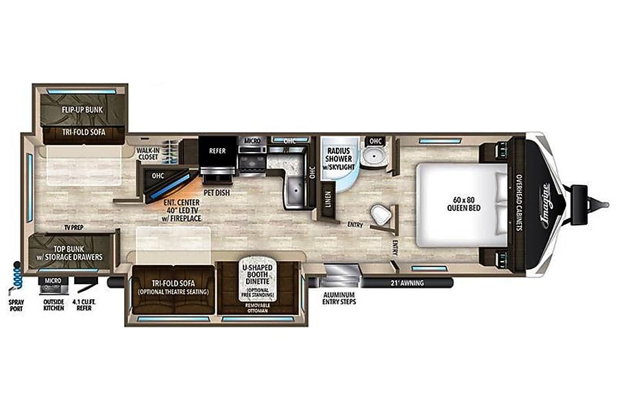 floorplan 2017 Grand Design Imagine Fort Mill, SC