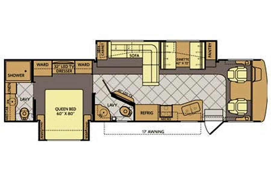 floorplan 2014 Fleetwood Bounder Suwanee, GA
