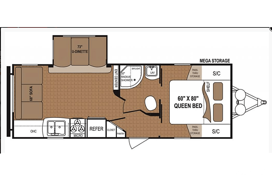 floorplan 2015 Dutchman Aspen Trails Travel Trailer Kalamazoo, MI