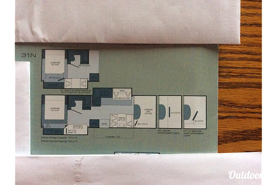 floorplan 2011 Fleetwood Tioga Winnipeg, MB