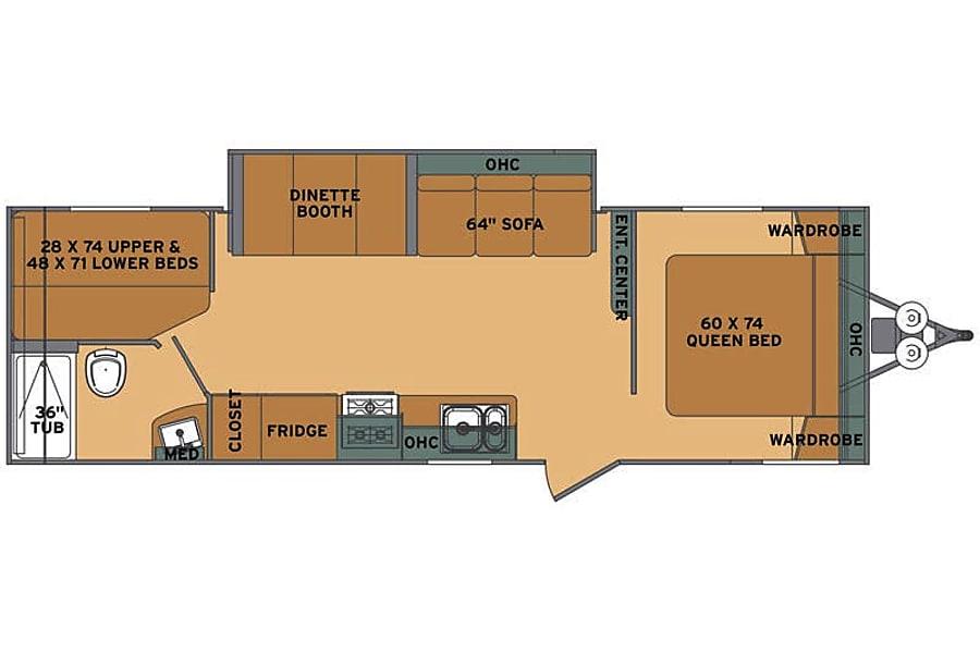 floorplan 2018 Shasta Oasis Saint Charles, MO
