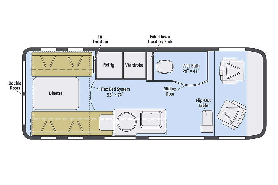 floorplan 2018 Winnebago Paseo (KS) Basehor, KS