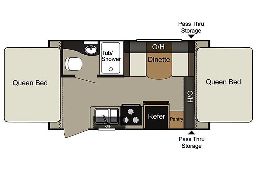 floorplan Delivery Available 2015 Keystone Passport Hershey, PA