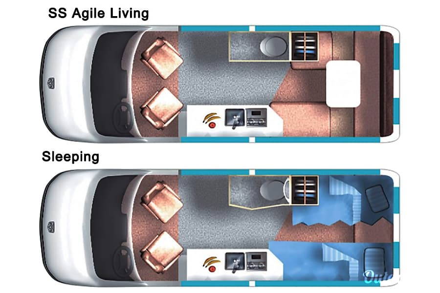 floorplan Roadtrek SS Agile La Jolla, CA