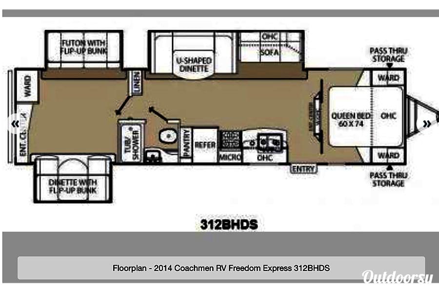 floorplan 2015 Forest River Freedom Express Liberty Edition Olathe, KS