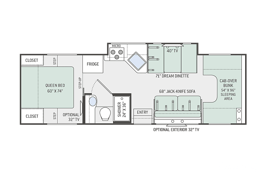 "floorplan 2019 Four Winds 28Z ""Yosemite"" Shreveport, LA"