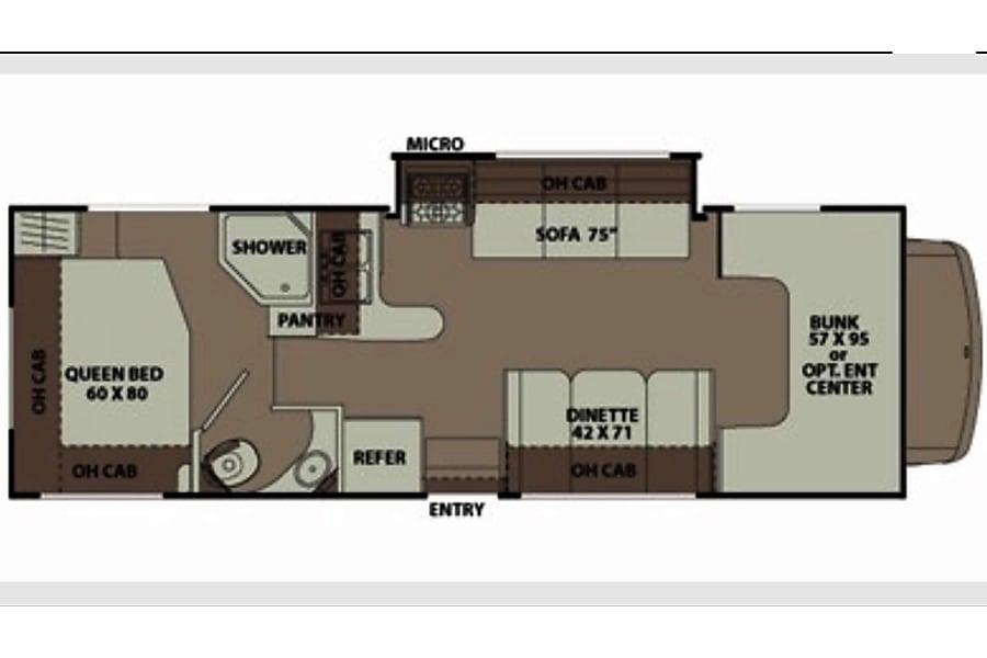 floorplan 2015 Coachmen Leprechaun Vallejo, CA
