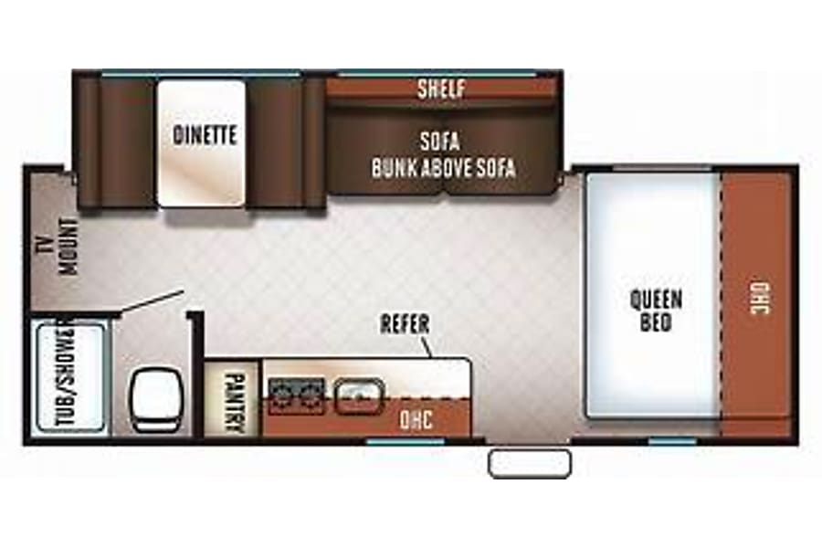 floorplan 2018 Forest River Wolf Pup 18TO Englewood, CO