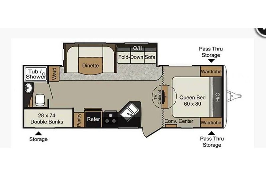 floorplan 2011 Keystone Passport Ultra-Lite Winter Garden, FL