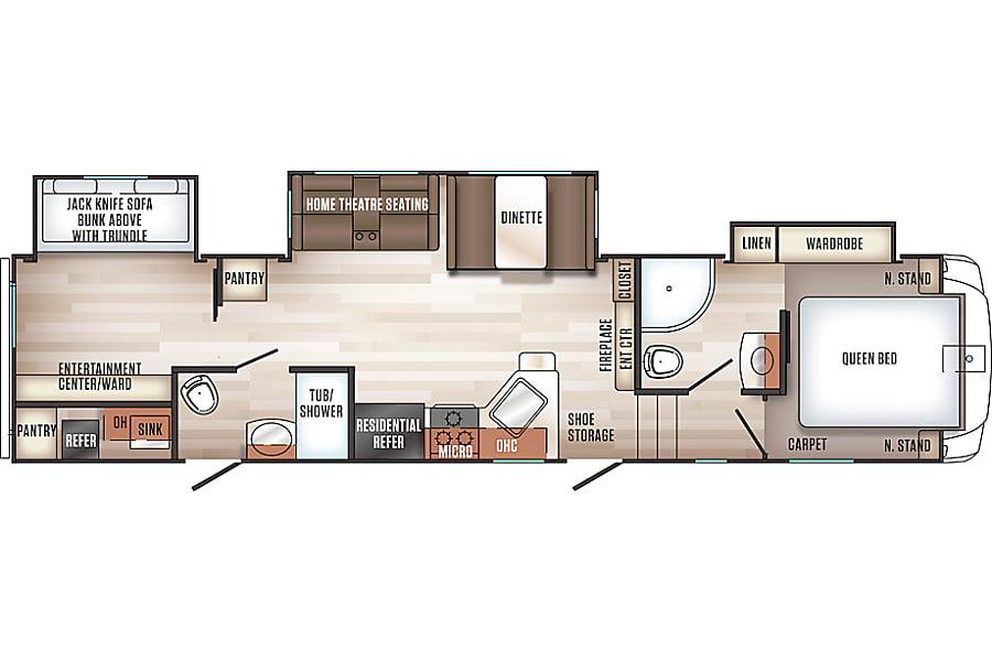 floorplan 2019 Forest River Sabre Johnston, IA