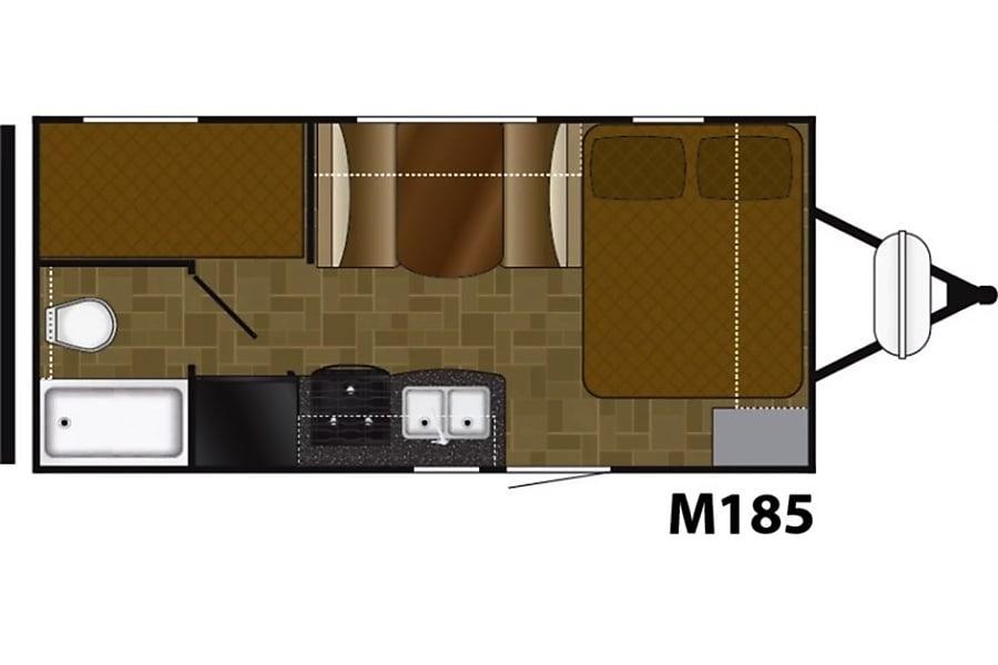 floorplan 2019 Heartland Mallard UltraLight-M185 Los Angeles, CA