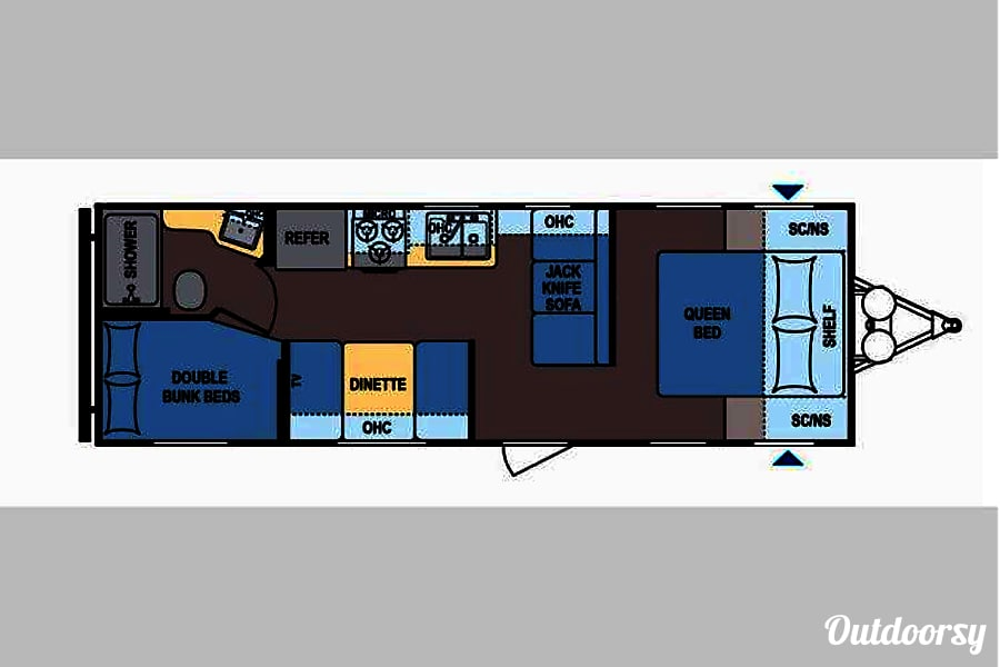 floorplan 2016 ~ Travel Trooper Bunkhouse ~ 10% Discount for First Responders or Military The Woodlands, TX