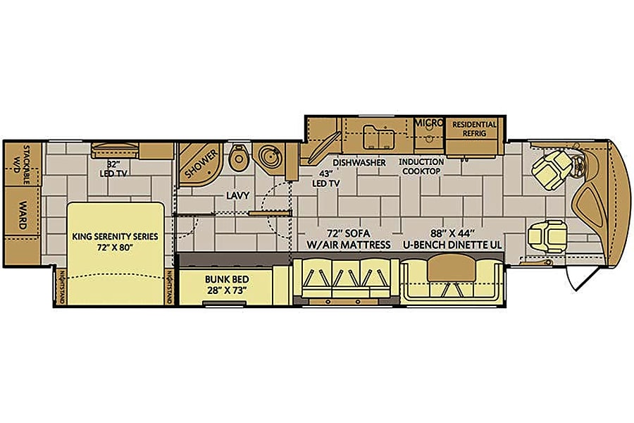 floorplan 2015 Fleetwood Discovery Maineville, OH