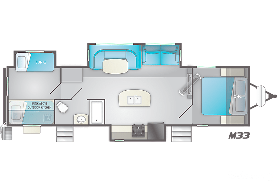 floorplan 2019 Heartland Mallard Murrells Inlet, SC