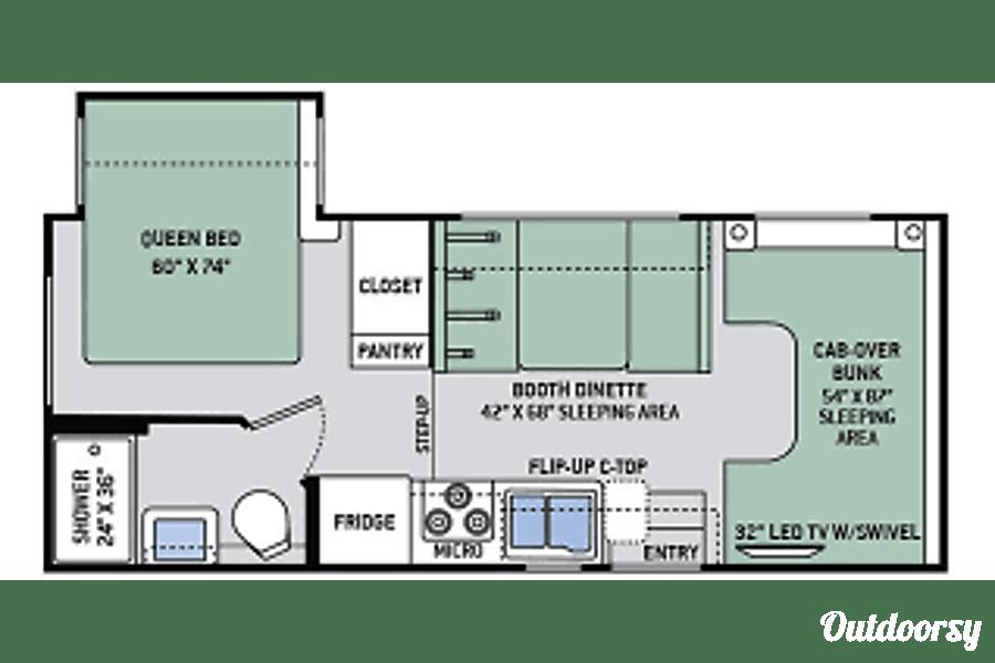 floorplan Compact Family Roadtripping Motorhome Austin, TX