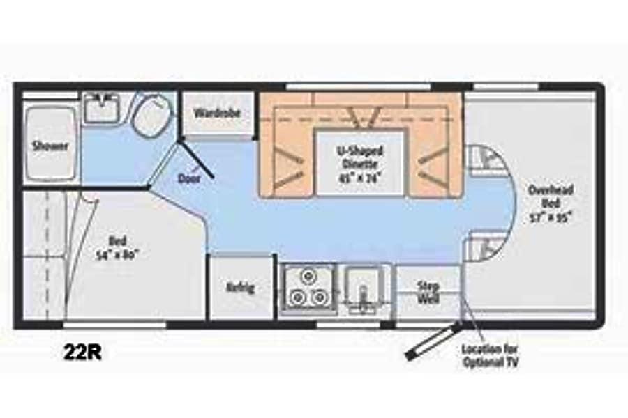 floorplan 2015 Winnebago Minnie Winnie Lake Stevens, WA
