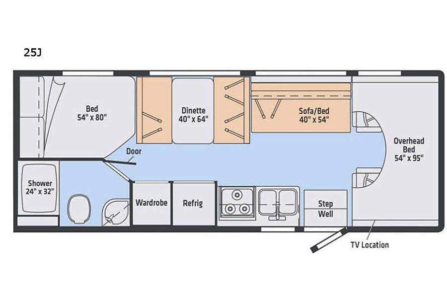 floorplan 2019 Winnebago Outlook Kalamazoo, MI