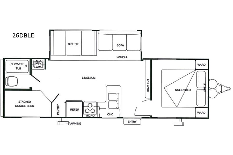 floorplan 2019 Forest River Salem -  26' Cedar Park, TX