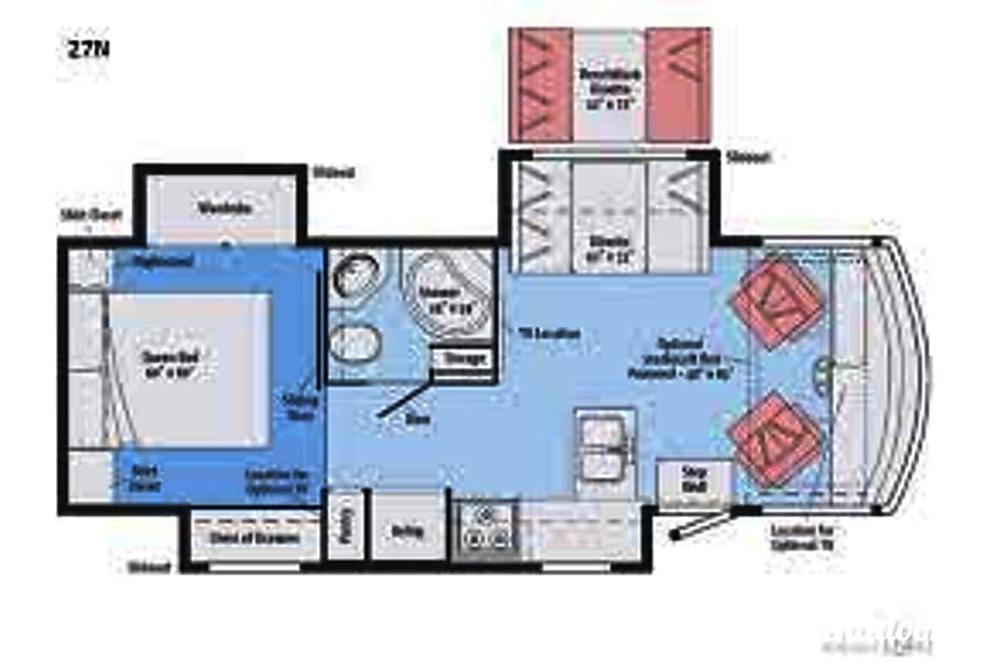 floorplan 2018 Winnebago Vista North Branford, CT