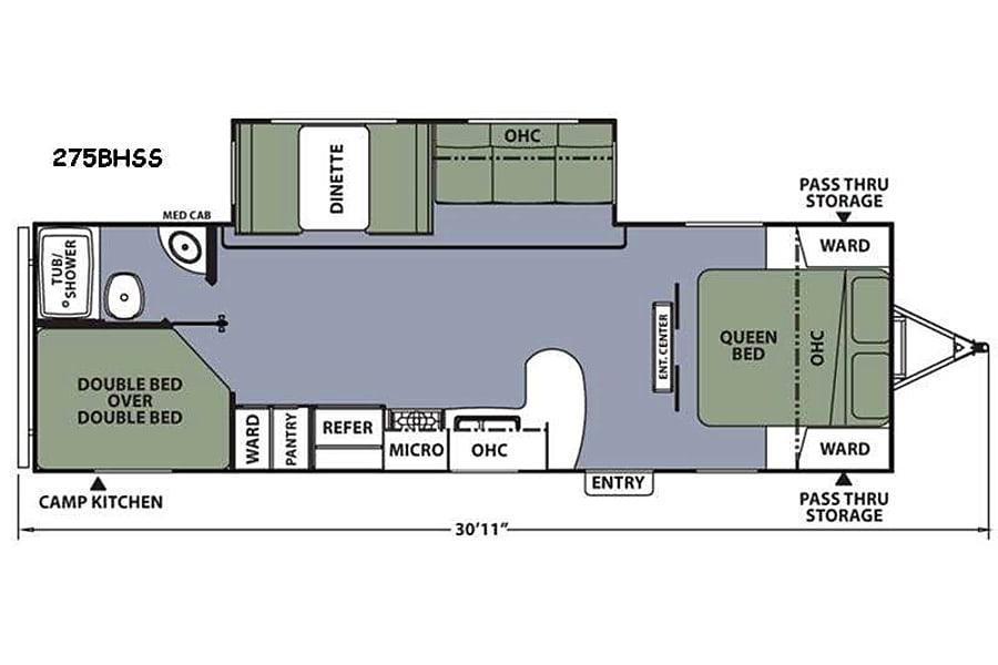floorplan 2016 Coachmen Apex Bunkhouse DeLand, FL